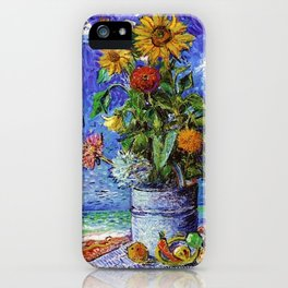 Sunflowers by the Sea by David Davidovich Burliuk iPhone Case
