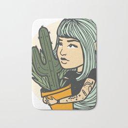 Cacti Girl Bath Mat