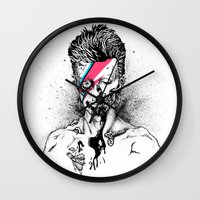 gore Wall Clocks featuring Zombowie by Daryll Peirce