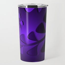 Pattern aubergine black plants violet grass blades ultramarine vintage style. Travel Mug