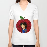 ruby V-neck T-shirts featuring Ruby. by Mickey Spectrum