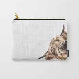 Sneaky Highland Cow Carry-All Pouch