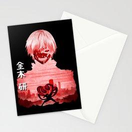 Minimalist Silhouette Kaneki Stationery Cards