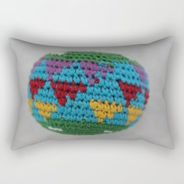 Colored fabric Rectangular Pillow