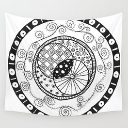 Circle Doodle Wall Tapestry