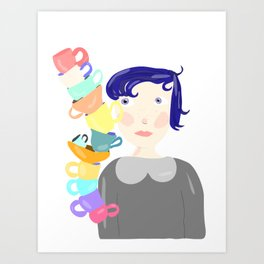 All these cups... Art Print