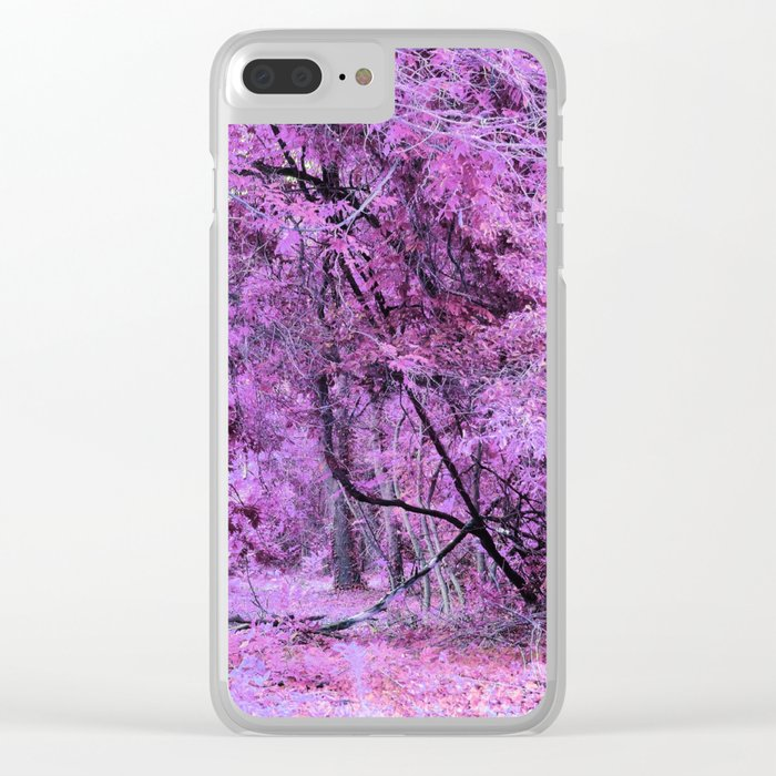 Fantasy Tree Landscape: Orchid Pink Purple Clear iPhone Case