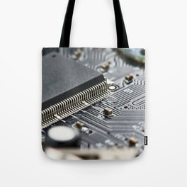 Elements of electronic circuit board Tote Bag