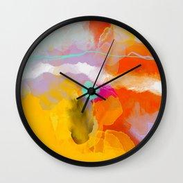 yellow blush abstract Wall Clock