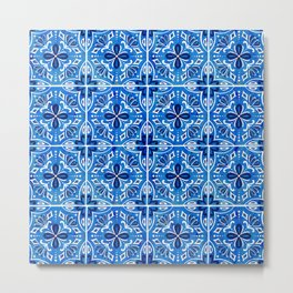 Sevilla - Spanish Tile Metal Print