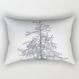 Yellowstone National Park - Ice Covered Tree Rectangular Pillow