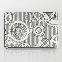 house stark iPad Cases featuring Stark Gears by Samantha Lynn