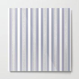 Bold Stripes with Glitter Look Pin Stripes Metal Print