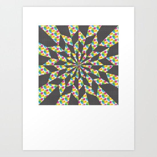 Kaleidoscope - Optical work 4 Art Print