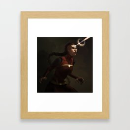 combustion woman Framed Art Print