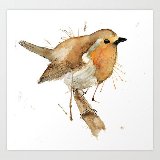 Ready Robin Art Print