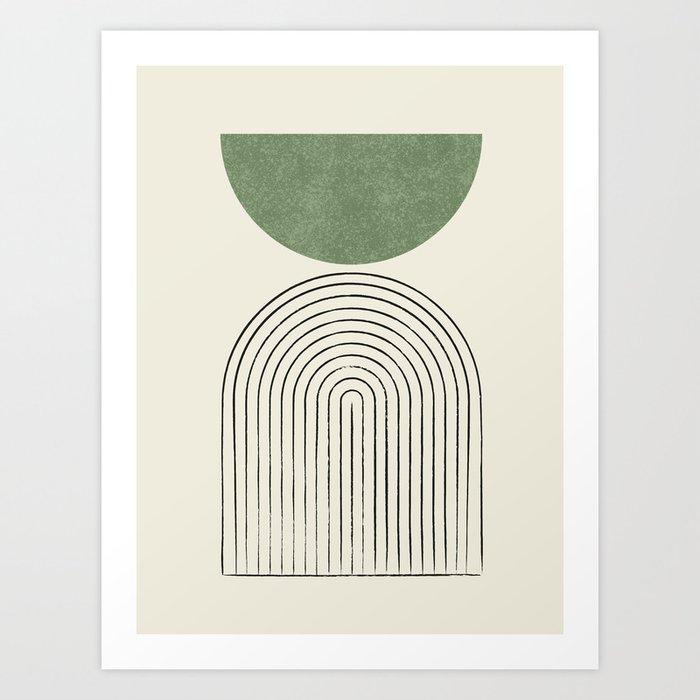 Arch balance green Art Print