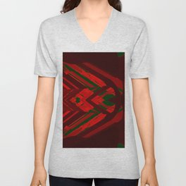 look behind the wooden structure Unisex V-Neck