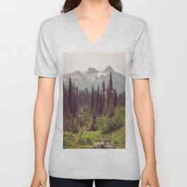 Faraway - Wilderness Nature Photography Unisex V-Neck