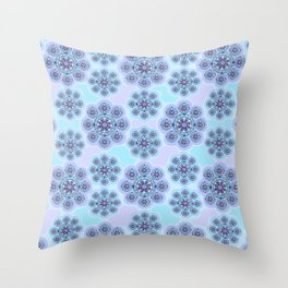 Mandala Snowflake Throw Pillow