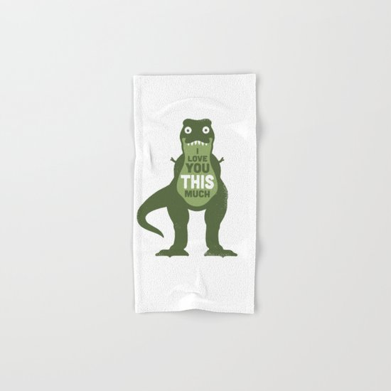 Amourosaurus Hand & Bath Towel