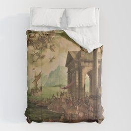 Ulysses Farewell to Penelope Seaport Landscape by Rex Whistler Comforters