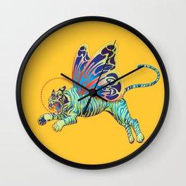Psychedelic Tiger Moth Wall Clock