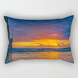 Sunset Behind the Clouds Rectangular Pillow