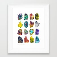 crystals Framed Art Prints featuring Crystals by ShannonPosedenti