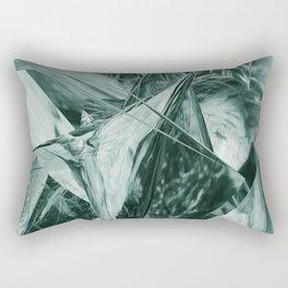 Green Abstract Eagle Nest Rectangular Pillow