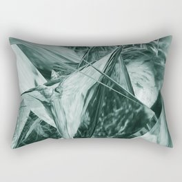 Green Abstract Eagle Nest Rectangular Pillow