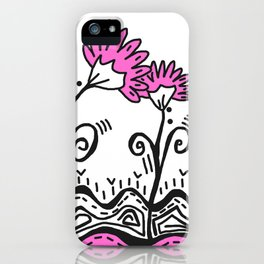 Three Spring Flowers - Pink iPhone Case