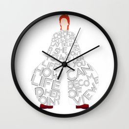 Lady Grinning Soul Wall Clock