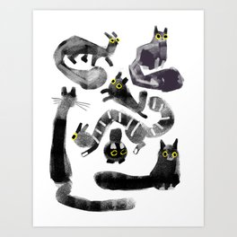 Cats on Cats Art Print