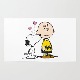 Snoopy love Charlie forever Rug