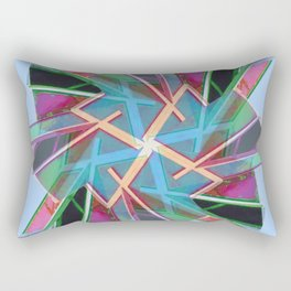 Window Of Opportunity Abstract Blue 1 Rectangular Pillow