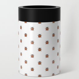 Lucky Ladybug Watercolor Print Pattern Can Cooler