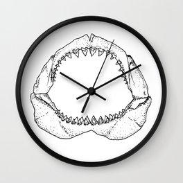 WHITE SHARK JAWS Wall Clock