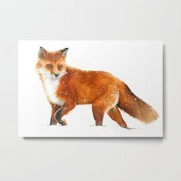 Red Fox Walking Metal Print