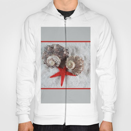 Seashell and Red Star Hoody