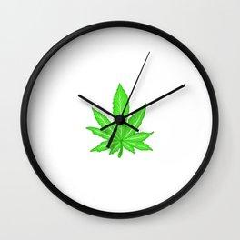 A Nice Cannabis Tee For High People Heart Weed T-shirt Design Marijuana Medication Legalized Wall Clock