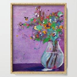 Flower Arrangement in Vase #1 Serving Tray