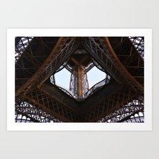 Eiffel Tower (below, looking up) Art Print