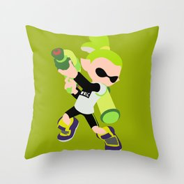 Inkling Boy (Green) - Splatoon Throw Pillow