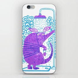 Armadillo shower time iPhone Skin