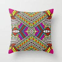 gypsy Throw Pillows featuring Gypsy by Kimberly McGuiness