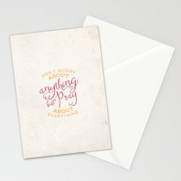 PRAYER OVER WORRY Stationery Cards