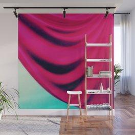 Dramatic Drape Magenta Pink Aqua Wall Mural
