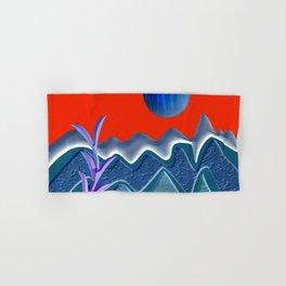 Mountain illustration Hand & Bath Towel