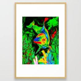 Retro Dolphin Framed Art Print